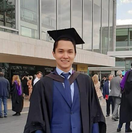 The moment of Glory: Congratulations to Daulet Orazkulov, UCL Graduate!